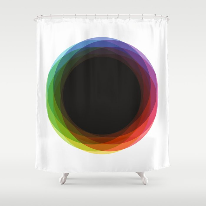 Fig. 039 Rainbow Circle Shower Curtain