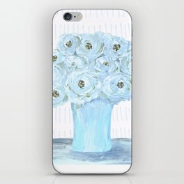 Boho still life flowers in vase iPhone Skin