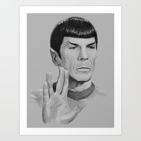 Spock Portrait Star Trek Art Print