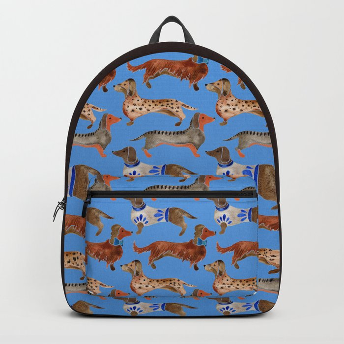 Dachshunds – Cornflower Blue Palette Backpack