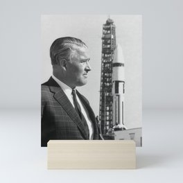 Wernher von Braun at Kennedy Space Center - 1968 Mini Art Print
