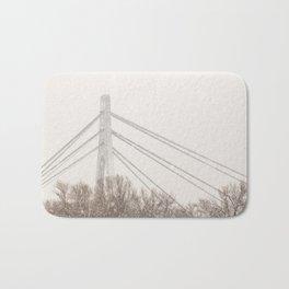 Moskovskyi Bridge in Winter Bath Mat