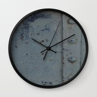 iron maiden Wall Clocks featuring Iron  by MeMRB