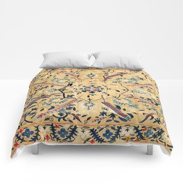 Kermina  Suzani  Antique Uzbekistan Embroidery Print Comforters