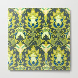 Gothic flowers pattern Metal Print