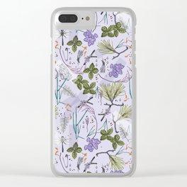 summer herbarium Clear iPhone Case