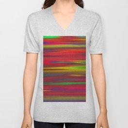 Astratto multicolore Unisex V-Neck
