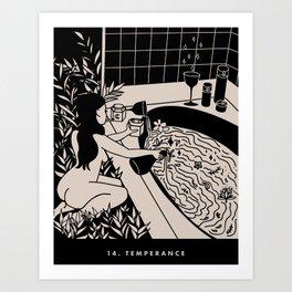 14. TEMPERANCE Art Print