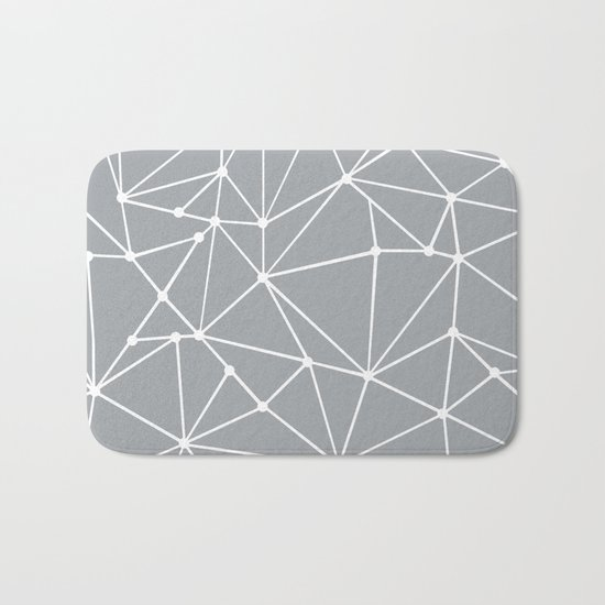 Ab Out Spots Grey Bath Mat