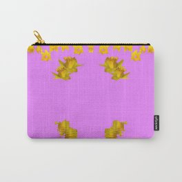 DECORATIVE MODERN PINK-DAFFODILS ART FLORAL Carry-All Pouch