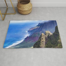 Hawaiian Coastal Cliffs: Aerial View From The Angels Rug