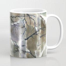 Birch Forest, an original watercolor painting Coffee Mug