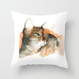 cat#10 Throw Pillow