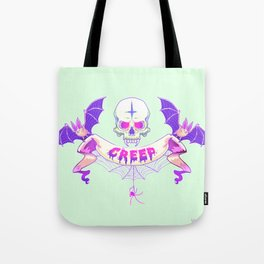 Pastel Creep Tote Bag
