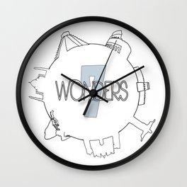 7 Wonders Wall Clock