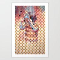 third eye Art Prints featuring Third eye by Cristian Blanxer