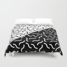 Black and White Squiggles /// www.pencilmeinstationery.com Duvet Cover