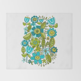 Botanical Doodles Throw Blanket