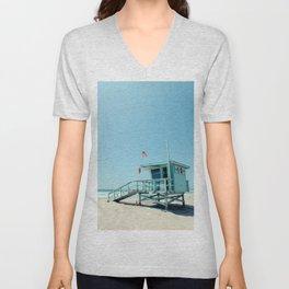 Rosecrans Tower in Manhattan Beach (El Porto) Unisex V-Neck