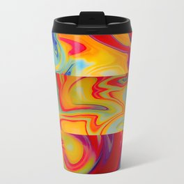 Marble Waves Metal Travel Mug