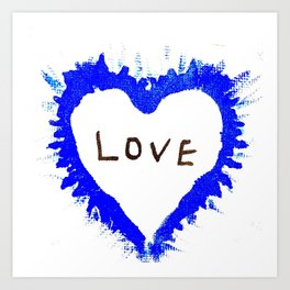 Love, One word that Transcends and Heals. Mini canvas art Art Print