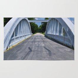 Rainbow Curve Bridge Rug