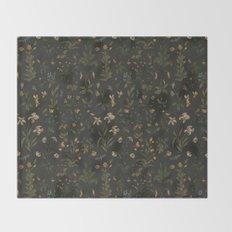 Old World Florals Throw Blanket