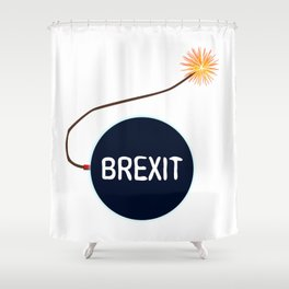 Brexit Black Bomb Shower Curtain
