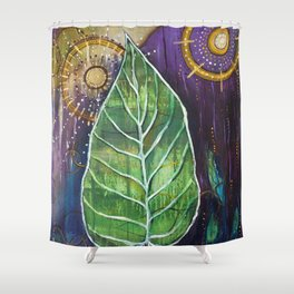 Two Suns Shower Curtain