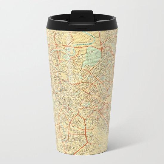 Rome Map Retro Metal Travel Mug