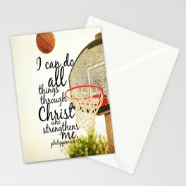 Philippians I can do all things Stationery Cards