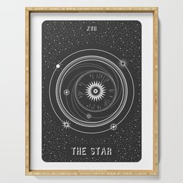 Minimal Tarot  Deck The Star Serving Tray