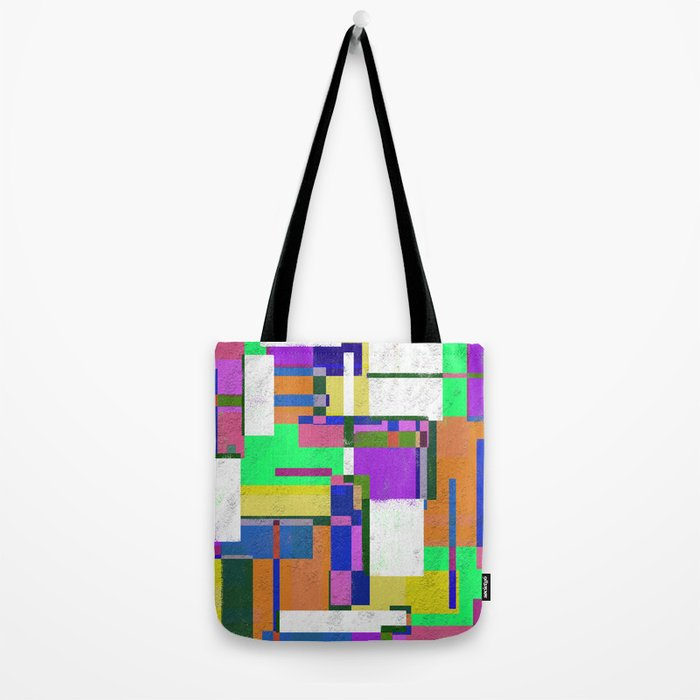 Pastel Geometry Tote Bag
