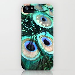 Peacock Shimmer iPhone Case