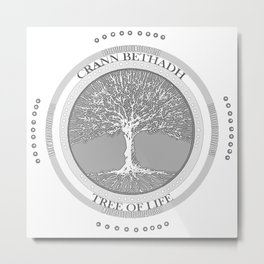 Tree of life (white) Metal Print