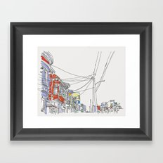 Row Houses Framed Art Print