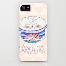 summertime cat Slim Case iPhone (5, 5s)