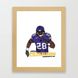 Adrian Peterson Framed Art Print