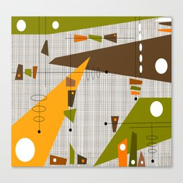 Explosion Of Rectangles Canvas Print