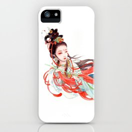 Watercolor Chinese Beauty -  Feitian iPhone Case
