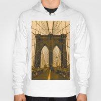 brooklyn bridge Hoodies featuring Brooklyn Bridge by Félix Pagaimo