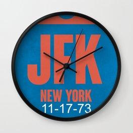JFK New York Luggage Tag 1 Wall Clock