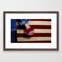 """Born in the USA"" by Cap Blackard Framed Art Print"