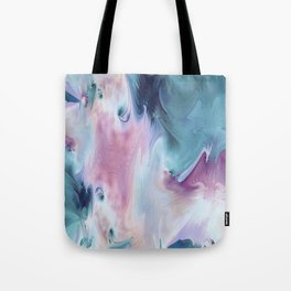 Abstract Art- Watercolor Art- Fractal Art- Blue Art- Ocean- Water- Marann Tote Bag