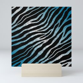 Ripped SpaceTime Stripes - Sky Blue/White Mini Art Print