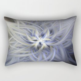 Forget-me-nots Twirled Rectangular Pillow