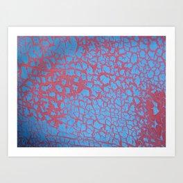 bushwick crackle Art Print