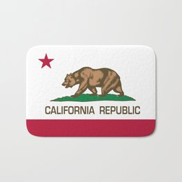 California Republic Flag, High Quality Image Bath Mat