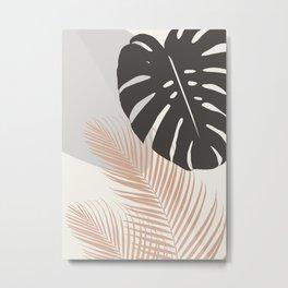 Minimal Monstera Palm Finesse #3 #tropical #decor #art #society6 Metal Print