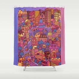 Tuna Plaza Shower Curtain